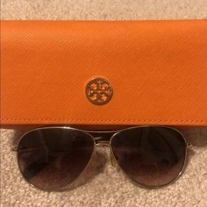 Tory Burch Sunglasses with Logo on Lenses